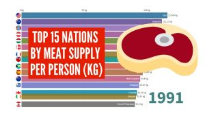 Top 15 Nations by Meat Consumption per Person